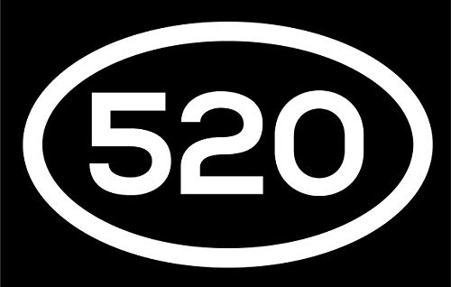 DHDM 520 Area Code Sticker Arizona Tucson Casa Adobes Casa Grande City Pride Love | 5-Inches by 3-Inches | Premium Quality White Vinyl | ND476 ()