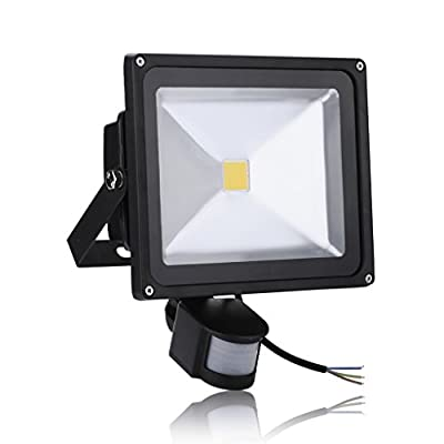 Generic 30W Warm White Waterproof LED Motion Activated PIR Sensor Security Flood Light