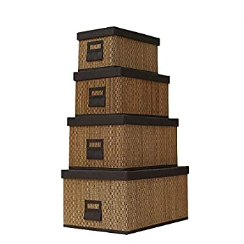 Image of Home and Kitchen Allenrous Multi-Function Storage Box with Lids,Cube Basket Bin for Toys, Clothes, DVDs, Books, Food, Bedding