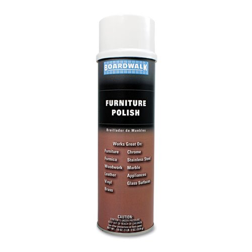 Boardwalk - Furniture Polish, Lemon, 19oz Aerosol, 12/Carton 346-ACT (DMi CT by Boardwalk