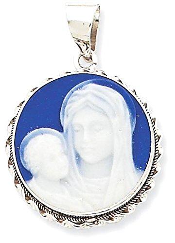 Porcelain Cameo Pendant Necklace - 6