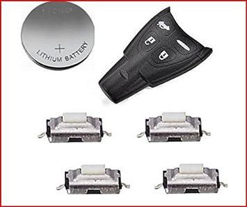 para Saab 93 95 9 - 3 9 - 5 TID Aero Remote Key Fob Case Kit de reparación de Full DF: Amazon.es: Electrónica
