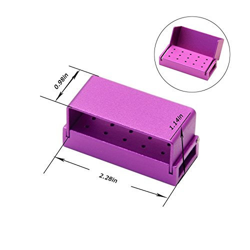 15 Hole Dental Disinfection Burs Holder Opening Box