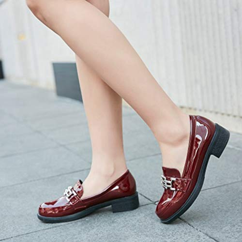 Metallisia Luistaa Oxfords Oxford Rento Tasainen Naisten kenkä Asuntoja Brogues Matala Kantapää Siivenkärki wq047XU0