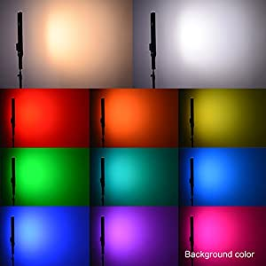 Nanguang RGB LED Ice Tube Light Wand Handheld Photography Light Wand for Ambient Lighting,Background Color,Light Painting,Filling Light,Scene Simulations and Photography Video Shooting