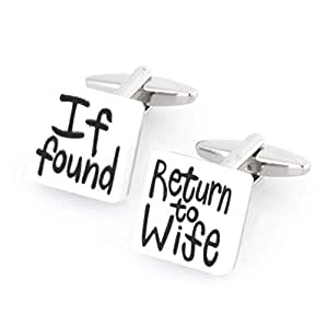 If found Return to Wife Cufflinks