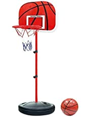 مجموعة كرة السلة المكونة من كرات وحامل وشبكة قابلة للتعديل للاطفال، قياس 160 سم، هدية للاطفال