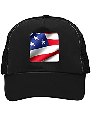 Unisex American Flag Flash Adjustable Classic Hiphop Hat Baseball Cap Snapback Dad Hat!