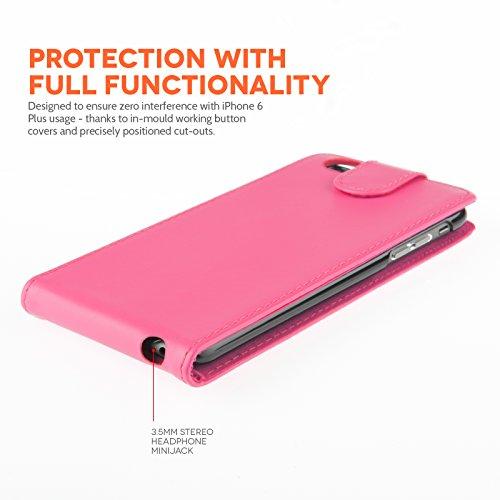 "Yousave Accessories iPhone 6und iPhone 6Plus PU Flip Cases, Kunstleder, Hot Pink, iPhone 6 plus (5.5"" screen)"