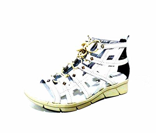 The Flexx Cor Set C243/06 sandali donna zeppa bassi bianchi gladiatore con lacci