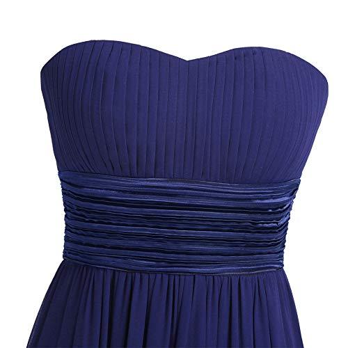 Marie Robe Haute XS Longue Manches de Soire Grande Femme Mariage de Bustier sans iiniim Robe Mousseline Chic Blue Robe Taille Royal Crmonie 3XL UvWPOnH