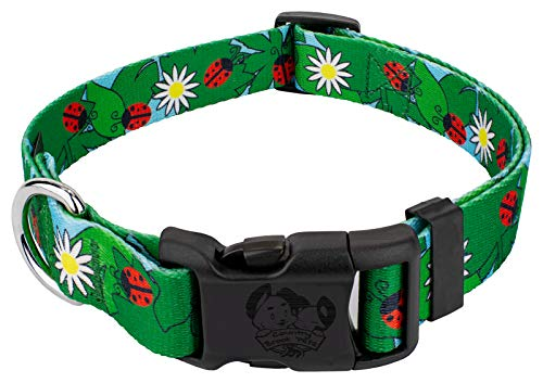 Country Brook Petz | Deluxe Ladybug Picnic Dog Collar - Large ()
