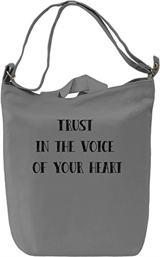 Listen to you Heart Borsa Giornaliera Canvas Canvas Day Bag| 100% Premium Cotton Canvas| DTG Printing|