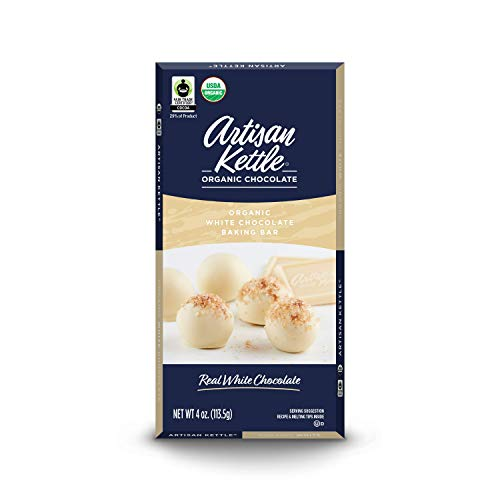 Artisan Kettle Organic Baking Bar, White, 4 Ounce (Pack of - White Organic Chocolate