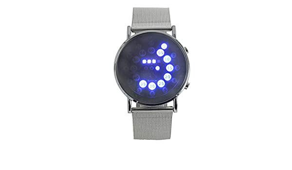 Amazon.com: Watch,WoCoo Reloj de Mujer Watches Rolling LED Light Stainless Steel Mesh Band(Silver): Kitchen & Dining