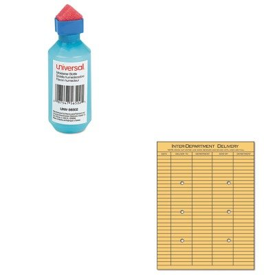KITUNV56502UNV63568 - Value Kit - Universal Light Brown Kraft String amp;amp; Button Interoffice Envelope (UNV63568) and Universal Squeeze Bottle Moistener ()