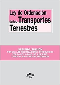 Ley De Ordenación De Los Transportes Terrestres por Editorial Tecnos