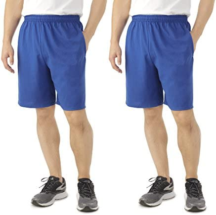 2 J.navy Fruit of the Loom 2 Pack Tagless Mens Shorts with Pockets 9 Small