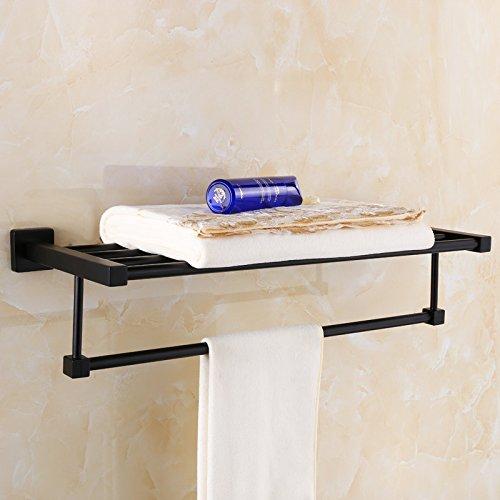 Damjic ブラックブロンズダブルバスタオルラック浴室ステンレススチールを長くすることができますタオルラックタオルバーハードウェアペンダント、 100 cm B071J27PJ8 100CM 100CM