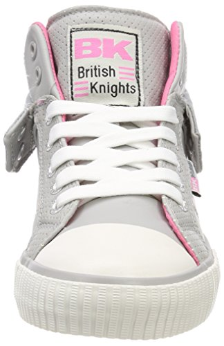 Roco Donna Knights Grigio Collo Lt Sneaker Grey a Pink Alto 03 British UW5Ywqfq