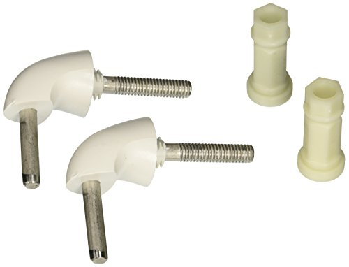 Bemis 7BHK84 000 Toilet Seat Hinge/Hardware Kit, White Bemis Toilet Seat Hinges