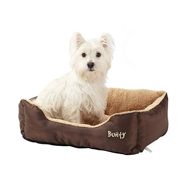 Bunty Deluxe Soft Washable Basket Bed Cushion with Fleece Lining for Dogs 1