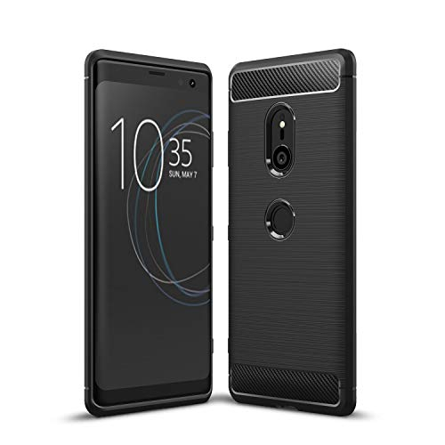 Sony Xperia XZ3 Case, TopACE Ultra Thin Carbon Fiber Scratch Resistant Shock Absorption Soft TPU Protective Cover for Sony Xperia XZ3 (Black)
