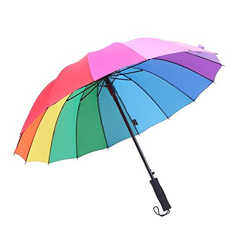 Saiveina-Auto-Open-Straight-Strong-Umbrella-Waterproof-Windproof-Sports16-Ribs