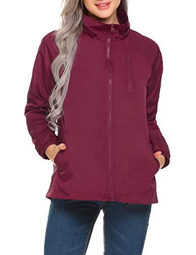 Womens Performance Light Jacket - Mofavor Women's Outdoor Windbreaker Lightweight Jacket Short Coat with Hooded