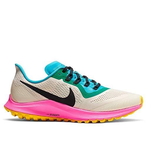 Nike Women's Air Zoom Pegasus 36 Trail Running Shoes (7, Cream/Black/Pink)