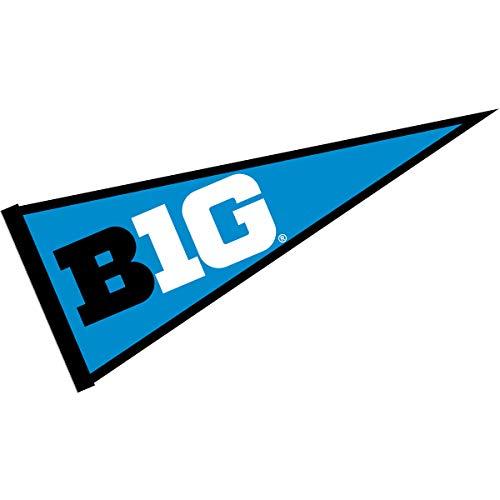 (Big 10 Ten Conference Full Size Logo Pennant Banner)
