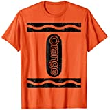 Mens Orange Crayon Funny Halloween Group Costume Gift T-Shirt Small Orange