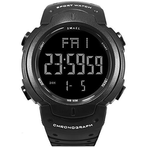 SMAEL Mens Sports Digital Watch Multifunction Electronic Quartz Waterproof Watch for Men