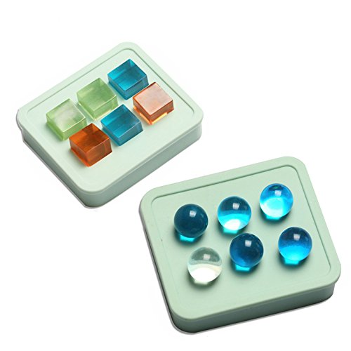 Yalulu 2Pcs 16mm Cube Round Silicone Mold Making Jewelry Pendant Resin Casting Mould for DIY Craft Making