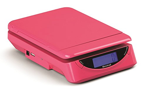 Salter Letter - Salter Brecknell BLPS250906P25L PS25 Pink Small Parcel Scale, ABS with Flip Up Roll and Flat Holder