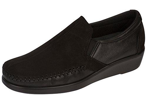 SAS Women's Dream Slip-On Shoe Charcoal/Black