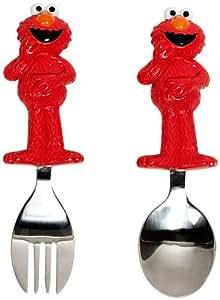 Munchkin Sesame Street Toddler Fork and Spoon, Elmo