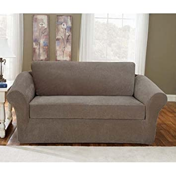 Amazon.com: Sure Fit Stretch Pique 3-Piece - Sofa Slipcover ...