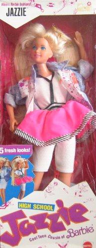 Barbie High School JAZZIE Doll - Barbie's Teen Cousin Wears Barbie Clothes! (1988 Mattel Hawthorne) by - Doll 1988 Barbie