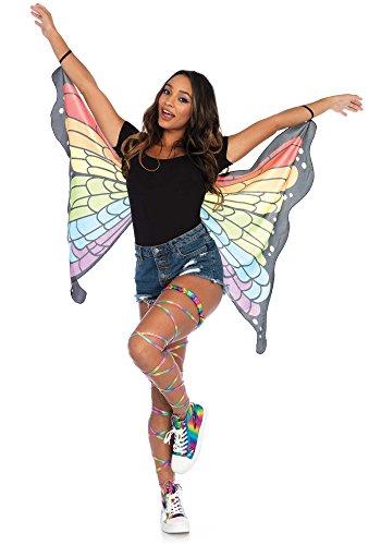 Leg Avenue Women's Mini Rainbow Butterfly Wings, Multi,
