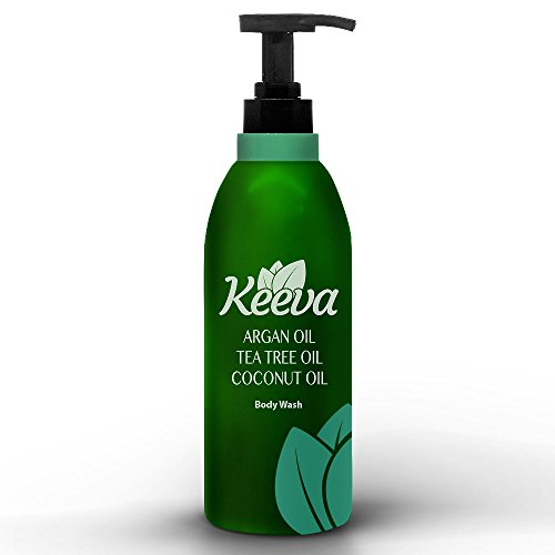 #1 Best Anti-bacterial Body Wash with Tea Tree Oil, Argan Oil and Coconut Oil 3-in-1 Formula By Keeva. 100% Natural Ingredients Are Perfect for Moisturizing Dry, Sensitive Skin, & Fighting - Cleansing Antibacterial Free Lotion Soap