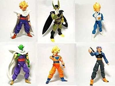BigDBZ Super Stars Dragon Toys Goku Action Figure: Goku Gohan Vegeta Trunks Super Saiyan Piccolo Cell DBZ 6X 5 by BigDBZ
