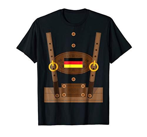 Lederhosen T-Shirt Funny Oktoberfest Germany Costume Shirt -
