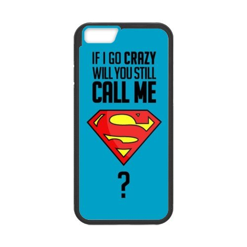Fayruz- Personalized Protective Hard Textured Rubber Coated Cell Phone Case Cover Compatible with iPhone 6 & iPhone 6S - Superman F-i5G1066