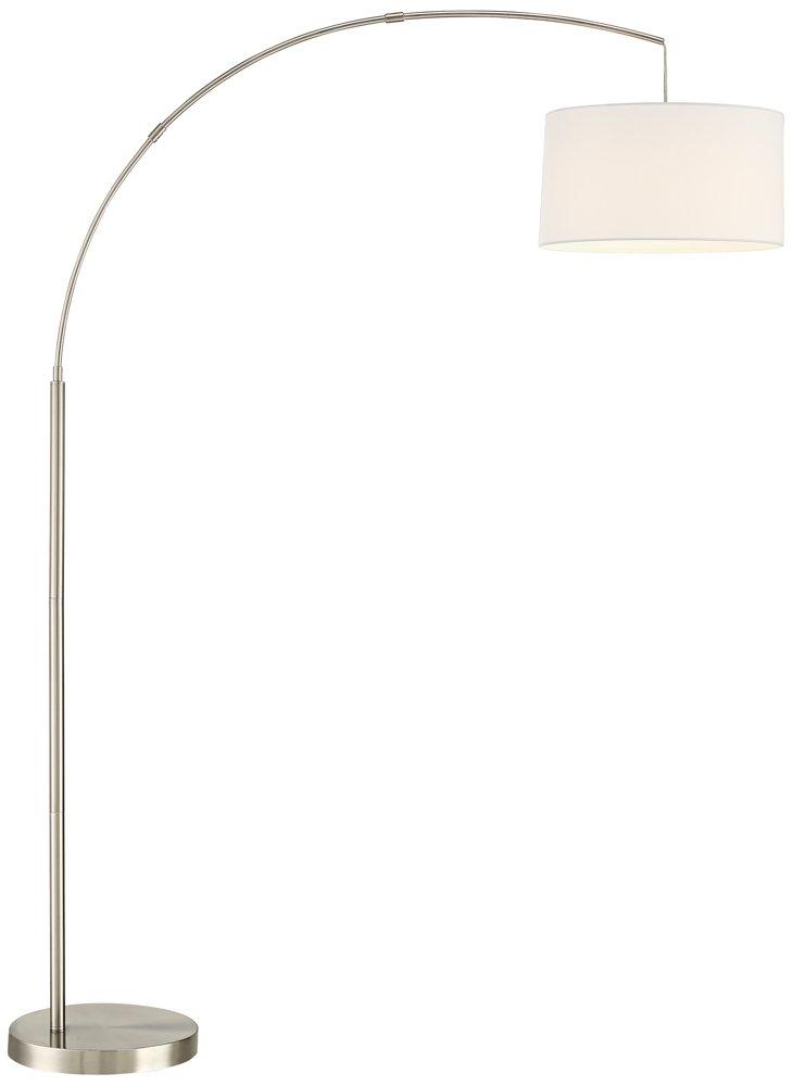 Cora Brushed Steel Arc Floor Lamp