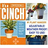 """CINCH"" Adjustable Weather Proof Plant Pot Hanger (Stainless Steel) Holds Up to 25 lbs. (Set of 2 Hangers)"