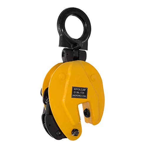 VEVOR 0.8T Plate Clamp 1763Lbs Plate Lifting Clamp Jaw Opening 0.6 inch Vertical Plate Clamp for Lifting and Transporting by VEVOR