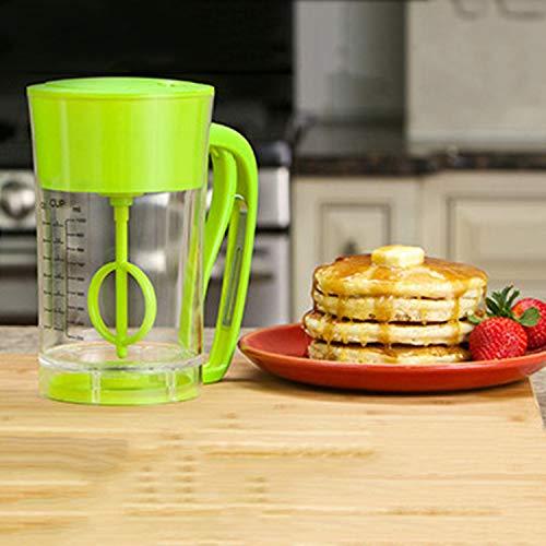 Fast Automatic Mixing Pancake Maker Express Pancake Batter Dispenser Cupcake Baking Essentials Cake Batter Mixer(Color:green)