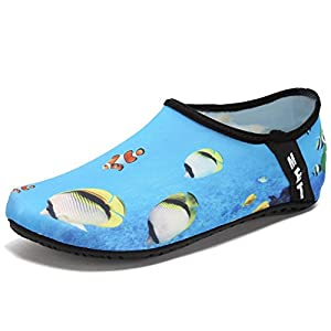 CIOR Lightweight Aqua Socks Quick-Dry Water Shoes Mutifunctional Barefoot For Beach Pool Surf Yoga Exercise SX-Sea-36/37