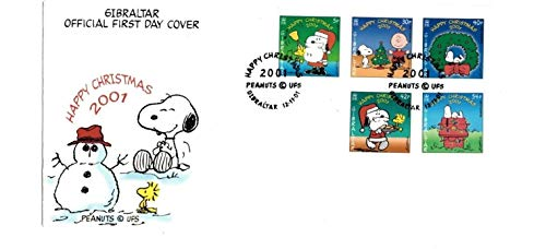 Covers Stamp First Collecting Day (Christmas Snoopy, Charlie Brown, Peanuts Collectible First Day Cover Stamps 894A)